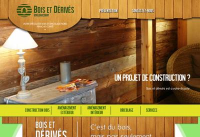 Capture d'écran du site de Bois et Derives de Voujeaucourt
