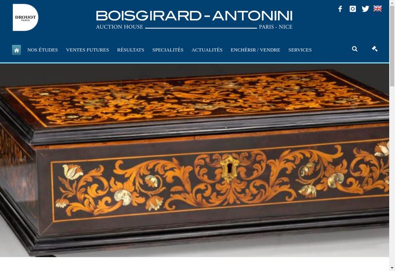Capture d'écran du site de Boisgirard Antonini