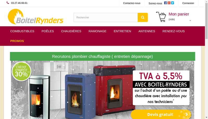 Capture d'écran du site de Boitel Rynders