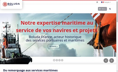 Site internet de Boluda Marseille Fos