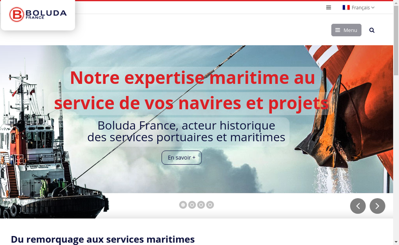 Capture d'écran du site de Boluda Marseille Fos