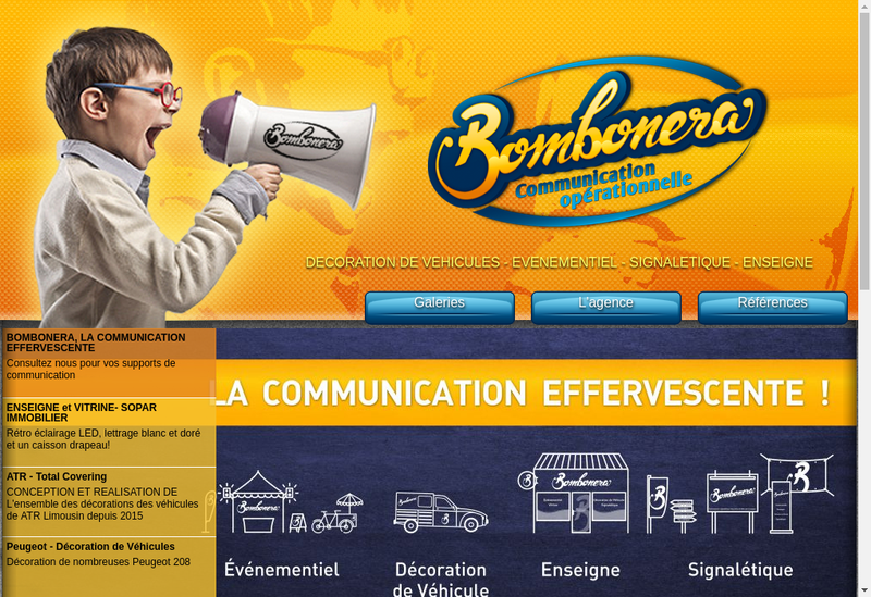 Capture d'écran du site de Bombonera