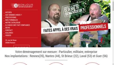 Site internet de Bonjour Demenagement