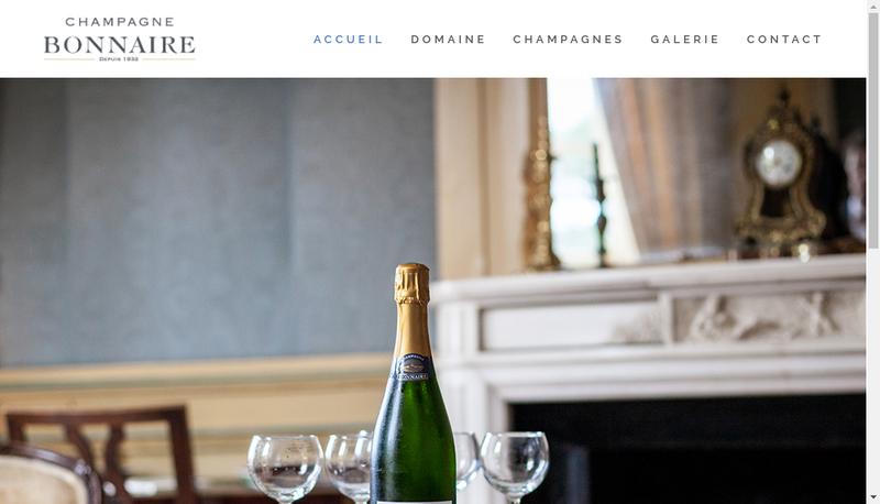 Capture d'écran du site de Champagne Bonnaire