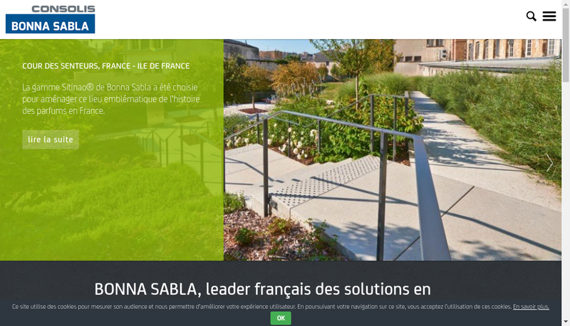 Capture d'écran du site de Bonna Sabla SNC