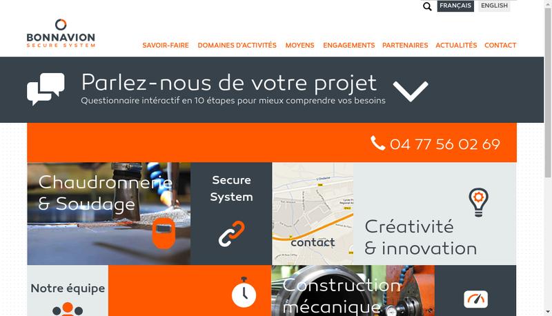 Capture d'écran du site de Bonnavion Secure System
