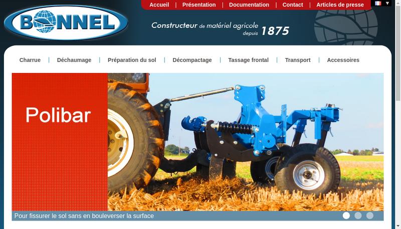 Capture d'écran du site de Societe des Char Rues Bonnel