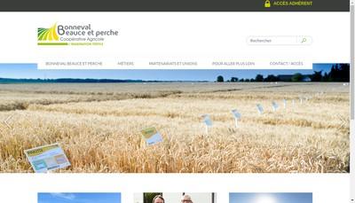Site internet de Societe Cooperative Agricole de Bonneval Beauce et Perche