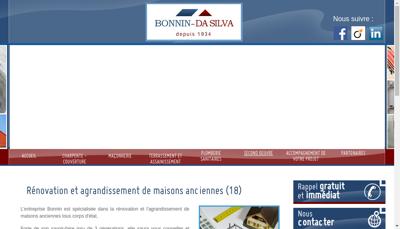 Capture d'écran du site de SARL Bonnin Da Silva