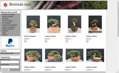 Site internet de Bonsai-San