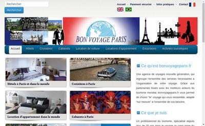 Site internet de Bon Voyage Paris