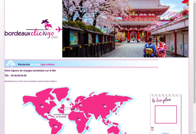 Capture d'écran du site de Travicom