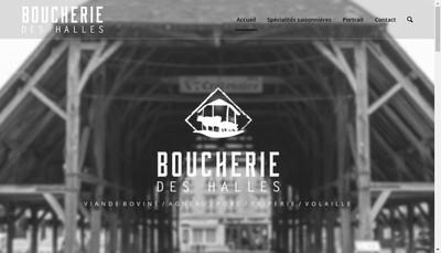 Site internet de Boucherie des Halles