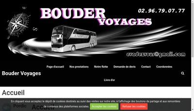 Site internet de Bouder Voyages