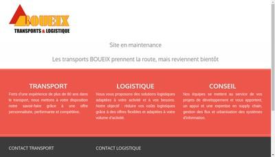 Site internet de Transports Boueix SA