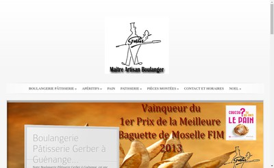 Site internet de Boulangerie Patisserie Gerber