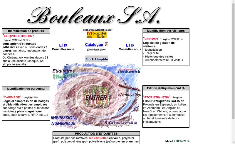 Capture d'écran du site de Bouleaux France