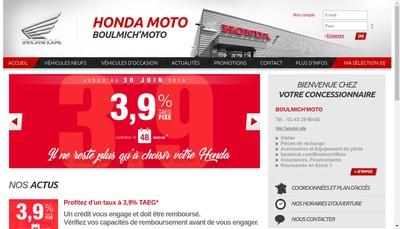 Site internet de Boulmich'Moto