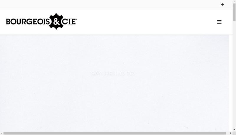 Capture d'écran du site de Bourgeois et Cie