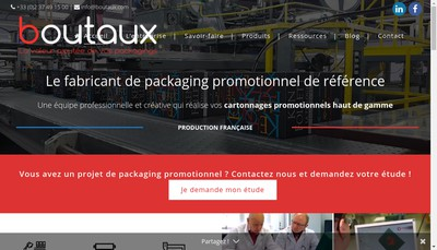 Site internet de Boutaux Packaging