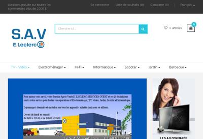 Capture d'écran du site de SAVE Leclerc Fioul E Leclerc
