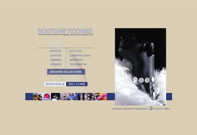 Capture d'écran du site de Boutons Kocher