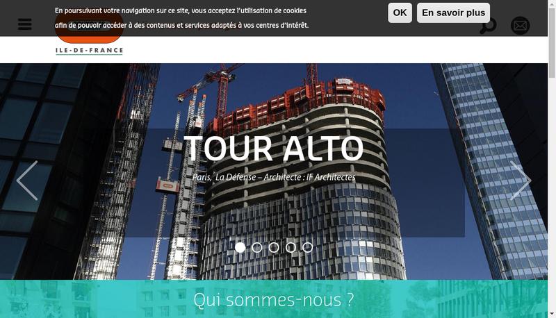 Capture d'écran du site de Bouygues Batiment Ile de France