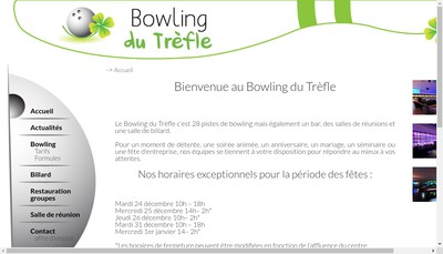 Site internet de Bowling du Trefle