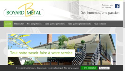 Site internet de Boyard Metal