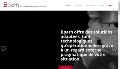 Capture d'écran du site de Bpath