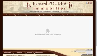 Site internet de Bernard Poudes Immobilier