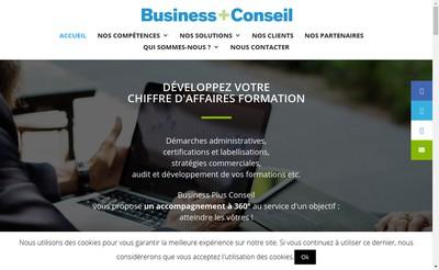Site internet de Business Plus Conseil
