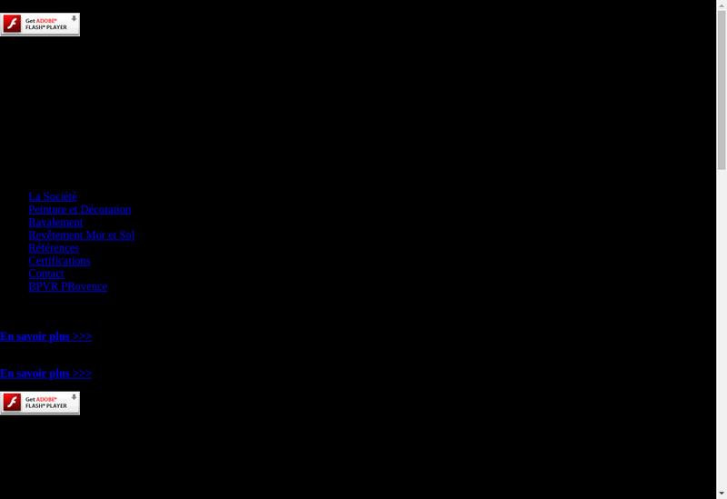 Capture d'écran du site de Batiment Peinture Vitrerie Ravalement