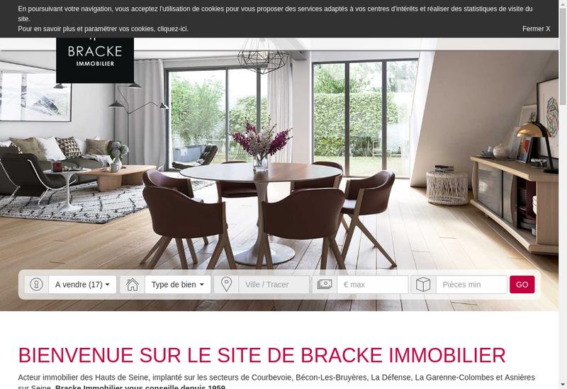 Capture d'écran du site de Immobilier