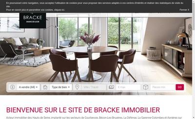 Site internet de Bracke Immobilier