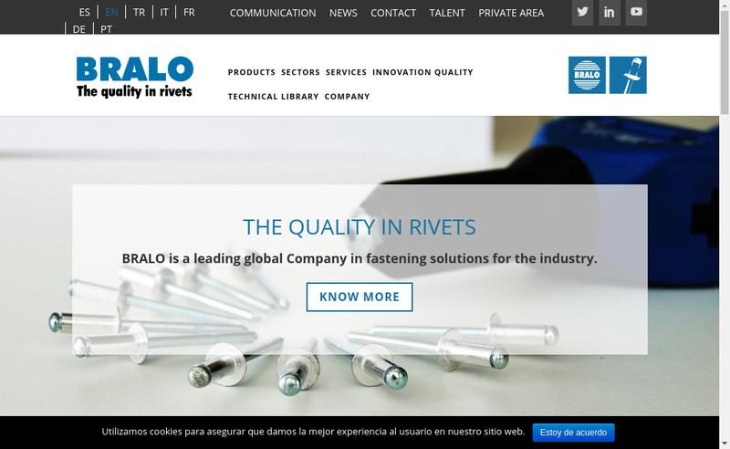 Capture d'écran du site de Bralo France