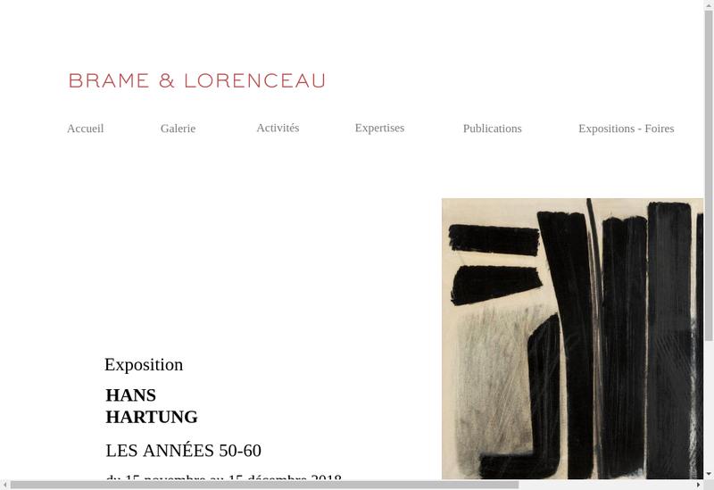 Capture d'écran du site de Brame et Lorenceau