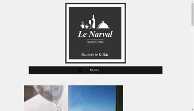 Capture d'écran du site de Le Narval