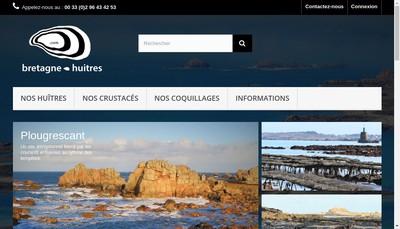Site internet de Bretagne Huitres