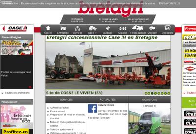 Capture d'écran du site de Bretagri