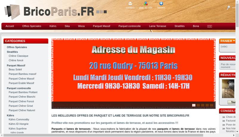 Capture d'écran du site de Sols et Parquets