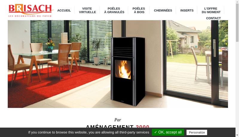 Capture d'écran du site de Mobalpa - Brisach