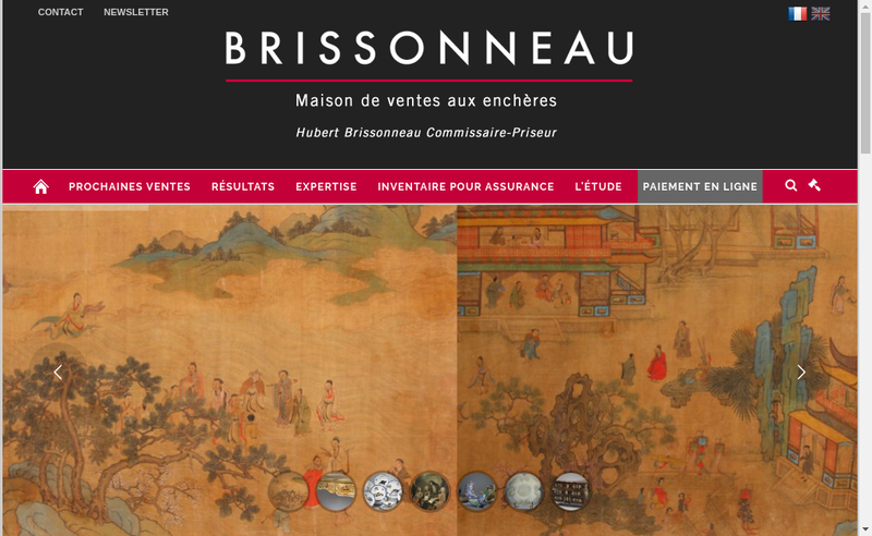 Capture d'écran du site de Brissonneau