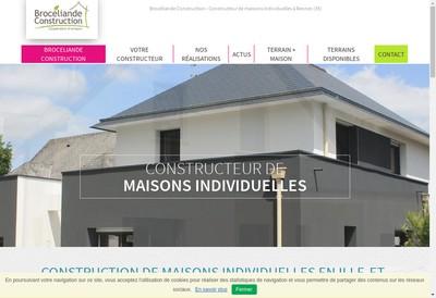 Site internet de Broceliande Construction