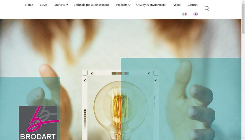 Capture d'écran du site de Brodart Packaging