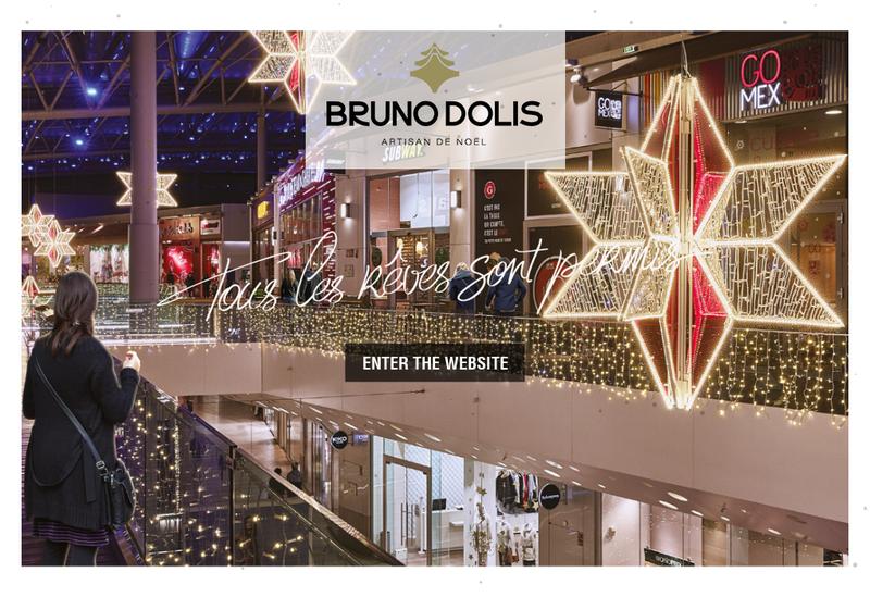 Capture d'écran du site de Bruno Dolis