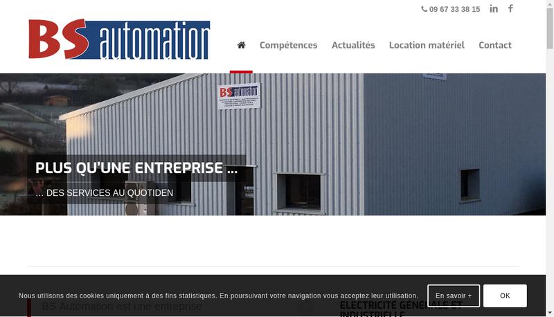 Capture d'écran du site de Bs Automation
