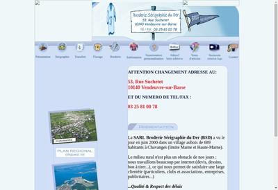 Site internet de Broderie Serigraphie du Der