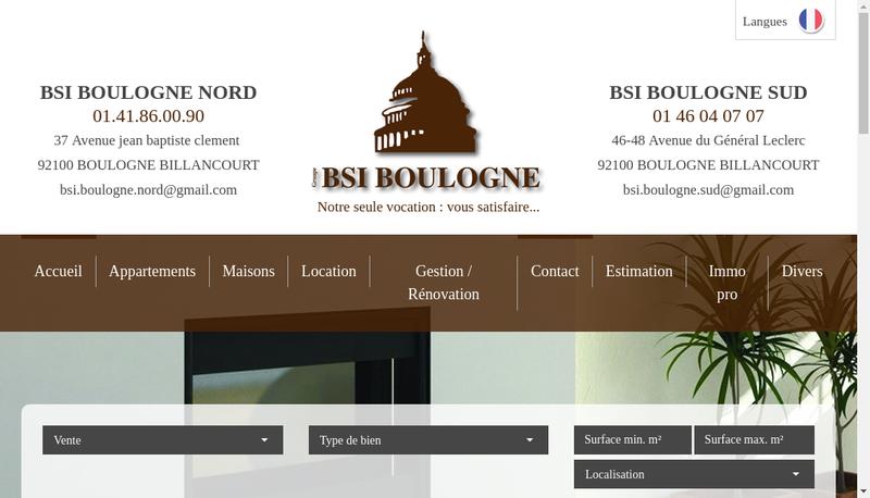 Capture d'écran du site de Bsi Boulogne