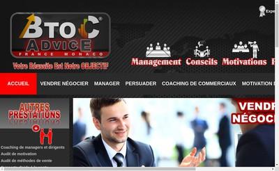 Site internet de BTOCADVICE FRANCE MONACO